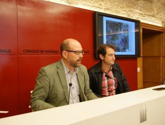 Martiño Noriega e Jorge Duarte durante a rolda de prensa.
